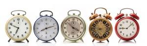 cinque sveglie vintage
