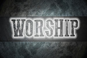 Worship Concept text on background