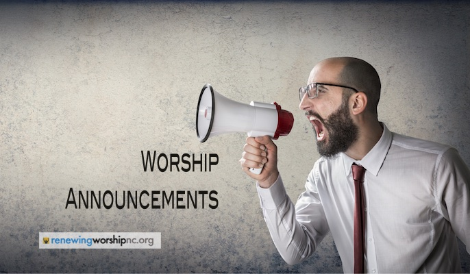 Worship Announcements: Measure Twice, Cut Once