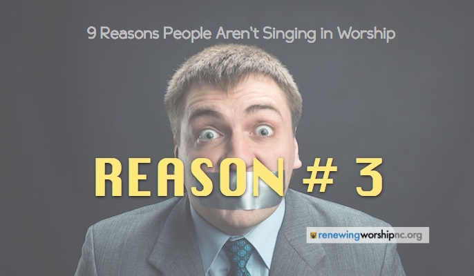 Reason #3: We Are Singing in Keys too High for the Average Singer