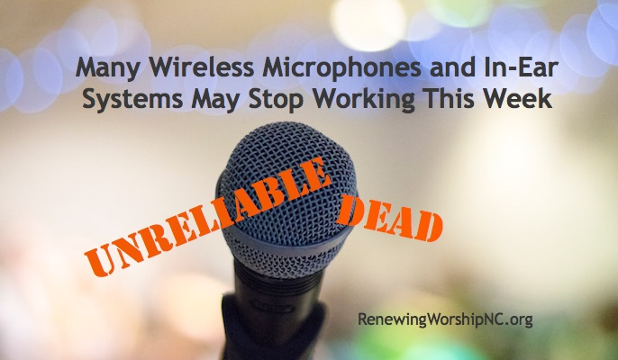 Many Wireless Microphones and In-ear Systems May Stop Working This Week